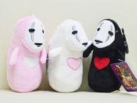 boneca masculina para venda por atacado-Miyazaki Hayao Spirited longe sem rosto masculino brinquedos de pelúcia Sem rosto masculino boneca chave fivela pingente de boneca