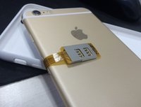 çift kart sim iphone 5s toptan satış-Çift Sim Kartları Tek Bekleme Adaptörü iPhone 5 S / SE / 6/6 Artı GSM / WCDMA / TDD-LTE Sim Kart