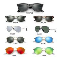Wholesale 99 Silver - 2017 New Fashion lurxu AA+ style Aviator Sunglasses Vintage Pilot Brand Sun Glasses Band Polarized UV400 Men Women Ben Mirror 50mm Glass 99