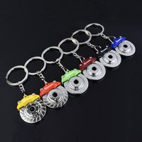 Wholesale Disc Brake Plate - Fashion Accessories Brake Discs Mold Metal Alloy Key Chain Keyring Car Keychains Birthday Gift Business Gift