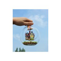 Wholesale Pixar Up Toy - Wholesale-Novelty DIY House Glass Ball Flying Cabin Toy,Pixar Film Up Model With Miniature Furnitures,Wooden Mini Handmade Model Gift Toy