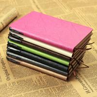 a6 merkzettel großhandel-PU Leder Nachahmung Notebooks Bürobedarf Tagebuch Notizblock Mit Stift Multi Farbe Optional Heißer Verkauf 5 4cr F Rkk