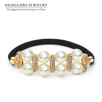 Wholesale Swarovski Wholesale Hair - MADE WITH SWAROVSKI ELEMENTS Rhinestone Gold Plated Hairwear for Women Jewelry Neoglory 2017 Sping New Arrival