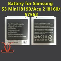 Wholesale Battery For Galaxy S3 Mini - Battery For Samsung Galaxy s3 mini i8160 i8190 8160 8190 S7562 EB425161LU EB-L1M7FLU Internal Batteries Replacement Free Shipping