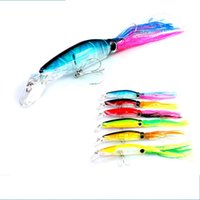 Wholesale squid jigging lures online - Simulated Bait Plastic Squid Prawns Fake Baits Lifelike Highly Deceptive Fish Hook Fishing Supplies Lure Hooks Lu Ya Stosh gf J1