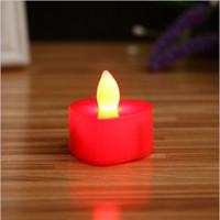 luces de noche en forma de corazón al por mayor-Luz LED Vela Seguridad Duradera Colorida Forma de Corazón Amor Romántica Luz Electrónica Nocturna Prueba de Agua Decoración de Fiesta 0 55ll F R