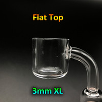 Wholesale Glass 25mm - New 3mm Thick Flat Top XL Quartz Banger Nail With 25mm OD Female Male 10mm 14mm 18mm 45 90 Quartz Banger Domeless Nail