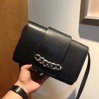 Wholesale Flip Messenger Bags - 2017 New GVC Infinity Bag Black Wine Red Chain Shoulder Bag Genuine Leather Women Fashion Flip Cover Messenger Bag HFLSBB004