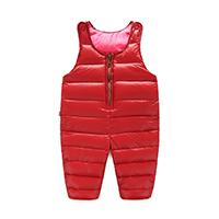 Wholesale Boys Bib Overalls - 2016 autumn and winter warmth Children down pants overalls baby boys and girls thick trousers children bib Kids