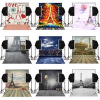 Wholesale Wedding Eiffel - 5x7FT charming paris eiffel tower scenic photography backdrops for wedding photos camera fotografica digital props studio photo background