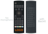 Wholesale g box android tv for sale - 10pcs Custom Made MX3 X8 T2 backlit No Microphone Mini GHz Wireless Gyroscope Keyboard Air Mouse Remote G Sensor For Android TV BOX