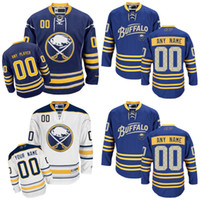 Wholesale personalize logo - Customized Men's Buffalo Sabres Jerseys Authentic personalized Cheap Hockey Jerseys Any Number & Name Embroidery Logos size S-3XL