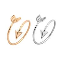 sarma halkası toptan satış-Gümüş, altın veya gül altın tabak içinde ince ok. Thumb / Wrap AYARLANABILIR Aşk için ab girlfriend hediye ücretsiz kargo