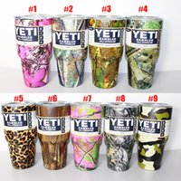 Wholesale Camouflage Stockings - In Stock Camo Yeti 30 oz Pink Camouflage Mugs Yeti Rambler Tumbler 9 Colors Rambler Cups Yeti Coolers Cup Stainless Steel
