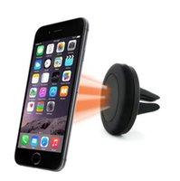 iphone 4s luftentlüftungshalterung großhandel-Universal Magnethalter Autotelefon Air Vent Mount Halter für iPhone 6 5 5s 4s für Samsung