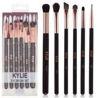 Wholesale New Gift Sets - HOT new Kylie Makeup Eye Brush Set 6 pieces Makeup Tools DHL Free shipping+GIFT