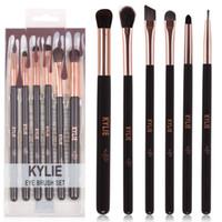 Wholesale Makeup Brush Gift Set - HOT new Kylie Makeup Eye Brush Set 6 pieces Makeup Tools DHL Free shipping+GIFT