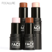 Wholesale top cosmetics brands for sale - Group buy Focallure Top Quality Brand Makeup Bronzer Highlighter Cosmetics Face Highlighter Shimmer Powder Cream Brighten Light