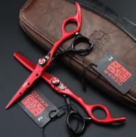 Wholesale Hair Salon Tools Equipment - Kasho 6.0 Inch Hairdressing Scissors Hair Professional Salon Product Barber Hair Cutting Shears Set Hairdresser Equipment Tool Logo custom