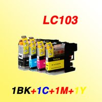 Wholesale Epson Cartridge Set - 4color 1 set LC103 LC103XL LC 103XL 103 with chip compatible inkjet cartridge Ink cartridges for Brother MFC-J4310DW J4410DW J4510DW printer