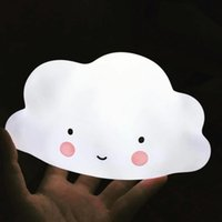 Wholesale Toy Cloud - Kids Novelty Cloud Face Night Light Childrens Bedroom Nursery Lamp Mini Cloud Lamp Toy In Bedroom Children 's Room Decorate