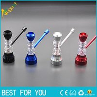 Wholesale Small Hourglasses - New style metal hourglass pipe removable cleaning filter screen small stainless steel metal pipe smoking pipe