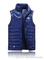Wholesale Light Blue Winter Coat - 2017 New Winter Men's Ultra Light Down Vest Men 90% White Duck Down Padded Winter Waistcoat Couples Branded Down Vest Men & Women Coats