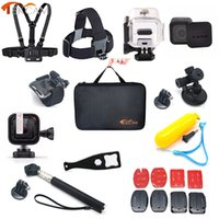 Wholesale Gopro Hero Dive Housing - Freeshipping accessories Set with 45m waterproof housing For GoPro 4Session For Go Pro hero 5 4 Session