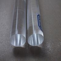 Wholesale Plexiglass Rods - Acrylic Plexiglass Clear Color Rod Home Building Decor Supplies Plastic PMMA Stick 14pcs lot Diameter 38x1000mm Length