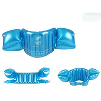 Wholesale Baby Swim Life Jackets - Wholesale- New Children's Inflatable Vest Baby Learning Equipment Swim Floating Baby Ring Life Jackets+Arm Circle Sleeves Combination