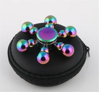 Wholesale Removable Rainbow - colorful Rainbow Colorful Gourd many Leaf Removable Change Brass Copper Handspinner Fingertip Gyro Fidget Hand Spinner Novelty Gag Toy