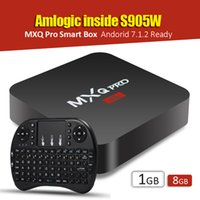Wholesale Google Tv Mouse - Android 7.1 S905W MXQ Pro TV BOX 1GB 8GB Quad core + 2.4G RII I8 fly air mouse mini wireless keyboard
