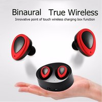 Wholesale K2 Phone - Mini Twins True Wireless K2 Wireless Earbuds Bluetooth Stereo Headset headphones In-Ear Earphones With Charging Socket Airoha1510 BT V4.0