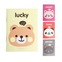 Wholesale Exercise Books - Wholesale- 1Pc Portable Cute Cartoon Paper Notepad Memo Diary Notebook Exercise Book