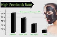 pilaten saugschwarze maske großhandel-PILATEN Suction Black Mask Gesichtspflege Maske Reinigung Tearing Style Porenstreifen Tiefenreinigung Nase Akne Mitesser Gesichtsmaske Entfernen Sie Schwarz