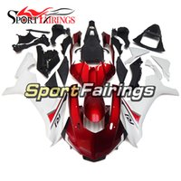Wholesale Yamaha R1 Red White - Complete Fairings For Yamaha YZF 1000 YZF R1 15 Year YZF-R1 2015 Injection ABS Motorcycle Fairing Kit Cowlings White Red Body Kit Fittings