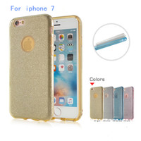 Wholesale Glitter Stickers For Phones - Ultrafine clear rubber soft glitter stickers TPU + PC For iphone 7 plus 7G galaxy J2 prime case phone protection shell opp bag packing