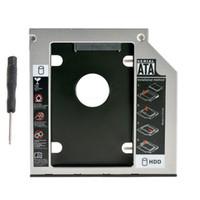 sdd sata toptan satış-Toptan Satış - 9.0mm SATA 3 III 2nd HDD SSD Sabit Disk Kasa Caddy Adaptörü Takas dizüstü DVD ODD