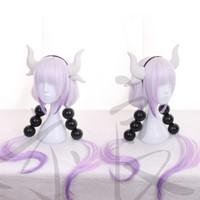 Wholesale Dragon Wig - Anime Kobayashi-san Chi no Maid Dragon Kanna Cosplay Wig Hair Women Straight Mixed Color Hair Wigs