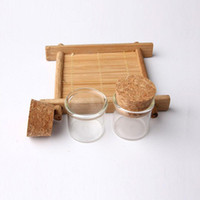 mini éprouvettes en liège achat en gros de-Bouchons de bouchons en verre 5G Bouchons de bouche Bouche de corne 5ml Verres de haute qualité / Tube de test Mini Jar en verre