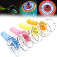 Wholesale Magnetic Gyro - Wholesale- Hot New Arrival Magnetic Flash Spinning Top Flashing Light Up Gyro Wheel Magnetic Kinetic Wheel Kids Children Science Toy