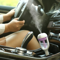 Wholesale Cheapest Car Oil - CHEAPEST!!! Popular Mini Car Humidifier Aroma Diffuser USB Mini Spray Air Purifier Car Charger 4 color Essential Oil Diffuser DHL Shipping