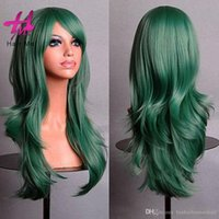 """Wholesale Cosplay Blonde Brown - Synthetic Full lace Natural Wave Cosplay Wigs Front German 30"""" Synthetic Harley Quinn Stlye Cosplay Hair Wigs In Stock"""