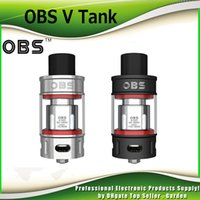 Wholesale High Top Dhl - Original OBS V Tank Sub Ohm Atomizer 5.2ml Great Smoky High Power Authentic Top Filling DHL Free 100% Genuine 2226025