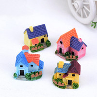 Wholesale Mini Diy Craft - House Cottages Mini Craft Miniature Fairy Garden Home Decoration Houses Micro Landscaping Decor DIY Accessories DHL Shipping Free