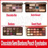 Wholesale Face Makeup Eye Shadow - Faced Makeup Chocolate Bar Eyeshadow semi-sweet Sweet Peach Bon Bons Palette 16 Color Eye Shadow plates