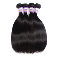 Barato Extensões De 24 Polegadas Baratas-Mongol Silly Straight Virgin Hair 3 ou 4 Bundles 10a Natural Black Straight Barato Mongol Remy Human Hair Weave Extensions 1028 Inch