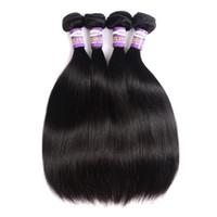 cheveux humains remy de 32 pouces achat en gros de-Mongolian Soyeux Droite Cheveux Vierges 3 ou 4 Bundles 10a Naturel Noir Droite Pas Cher Mongol Remy Extensions De Cheveux Humains Weave 1028 Pouces
