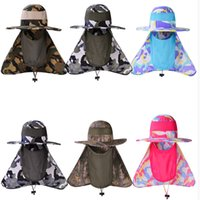 Big Wide Brim Summer Anti Mosquito Cap Fishing Bucket Fishing Hat Face Neck Protection Flap Sun Cap Outdoor Men Mulheres Camuflagem Selva Chapéus
