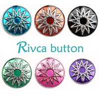 Wholesale Wholesale Metal Beads China - D01402 Rivca Snaps Button Jewelry Hot wholesale High quality Mix styles 18mm Metal Ginger Snap Button Charm Rhinestone Styles NOOSA chunk